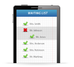 Let your clients add themselves to your waiting list
